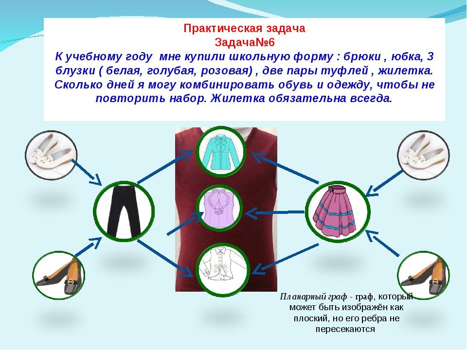Практическая задача Задача№6 К учебному году мне купили школьную форму : брюк...