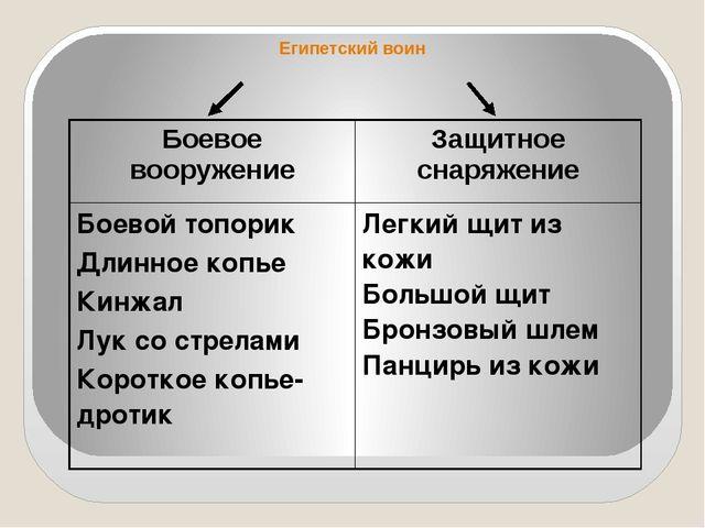 Египетский воин Боевое вооружение Защитное снаряжение Боевой топорик Длинное...
