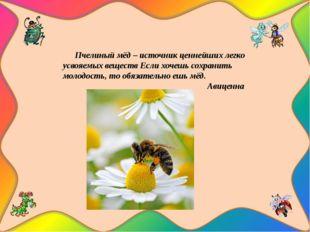 Пчелиный мёд – источник ценнейших легко усвояемых веществ Если хочешь сохран