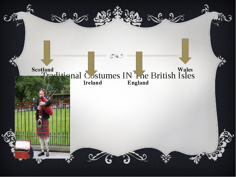 Traditional Costumes IN The British Isles Scotland Ireland England Wales
