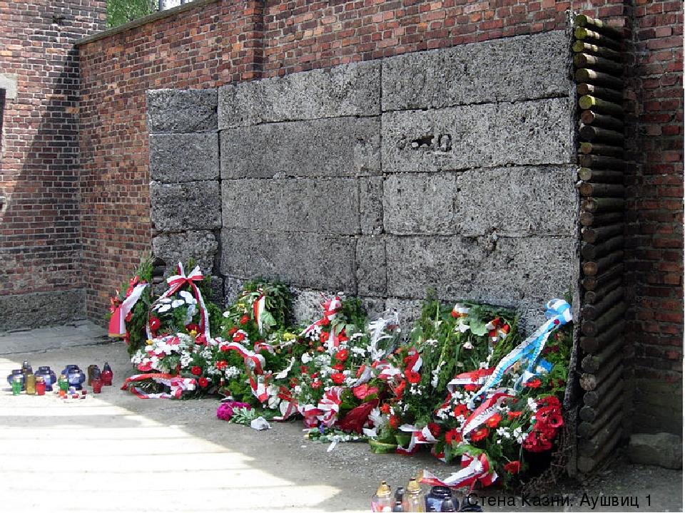 Стена Казни. Аушвиц 1