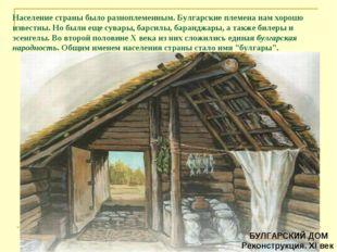 Население страны было разноплеменным. Булгарские племена нам хорошо известны.