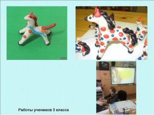 Работы учеников 3 класса Учитель изобразительного искусства Шишлянникова Елен