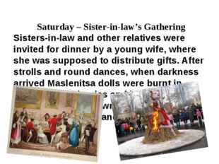 Saturday – Sister-in-law's Gathering Sisters-in-law and other relatives were