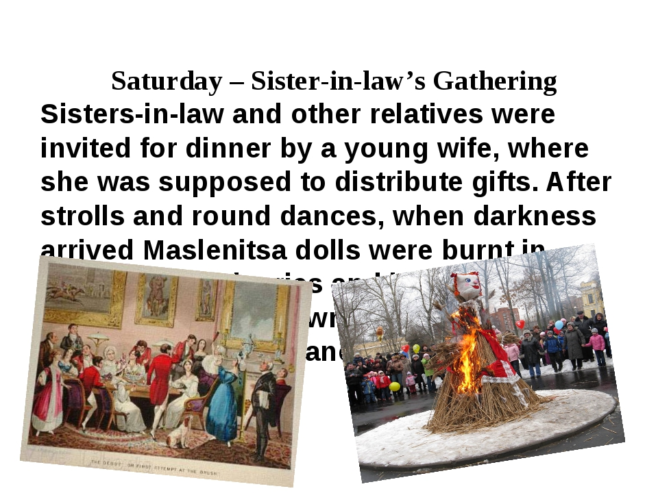 Saturday – Sister-in-law's Gathering Sisters-in-law and other relatives were...