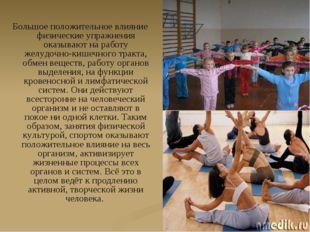 Большое положительное влияние физические упражнения оказывают на работу желуд