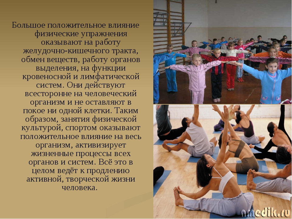 Большое положительное влияние физические упражнения оказывают на работу желуд...