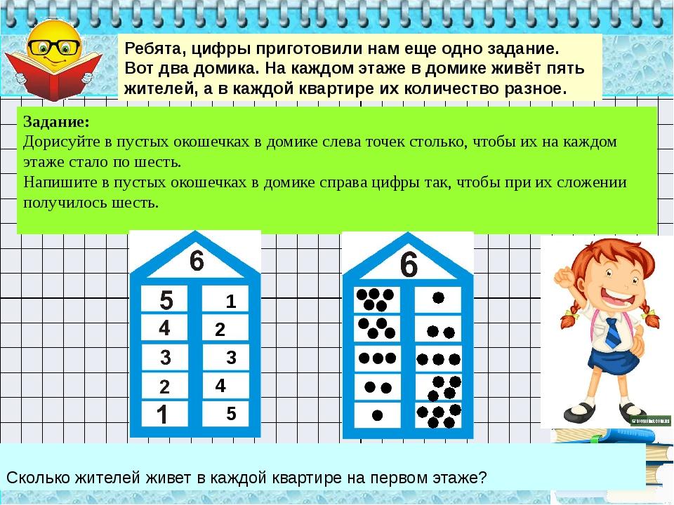 Сколько жителей живет в каждой квартире на первом этаже? Ребята, цифры приго...