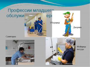 Профессии младшего обслуживающего персонала Санитарка Уборщица Мойщица посуд