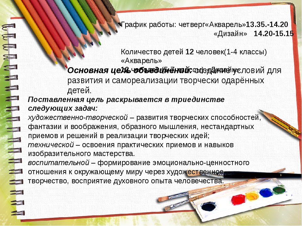 Основная цель объединений: создание условий для развития и самореализации тво...