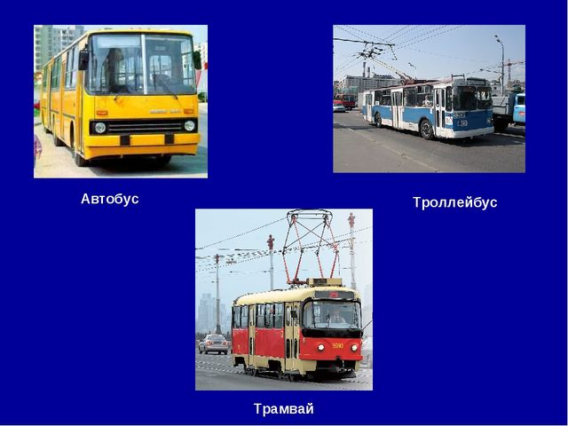Трамвай Автобус Троллейбус