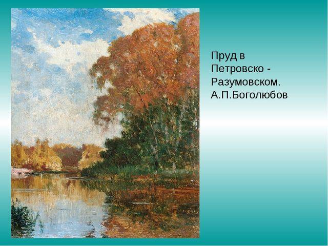 Пруд в Петровско - Разумовском. А.П.Боголюбов