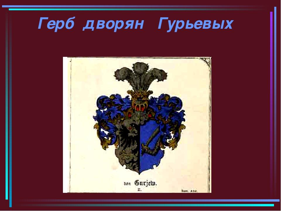 Герб дворян Гурьевых