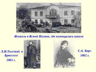 Л.Н.Толстой в Брюсселе 1861 г. Флигель в Ясной Поляне, где помещалась школа С