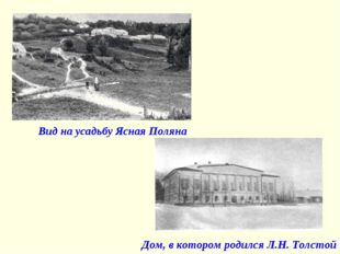 Вид на усадьбу Ясная Поляна Дом, в котором родился Л.Н. Толстой