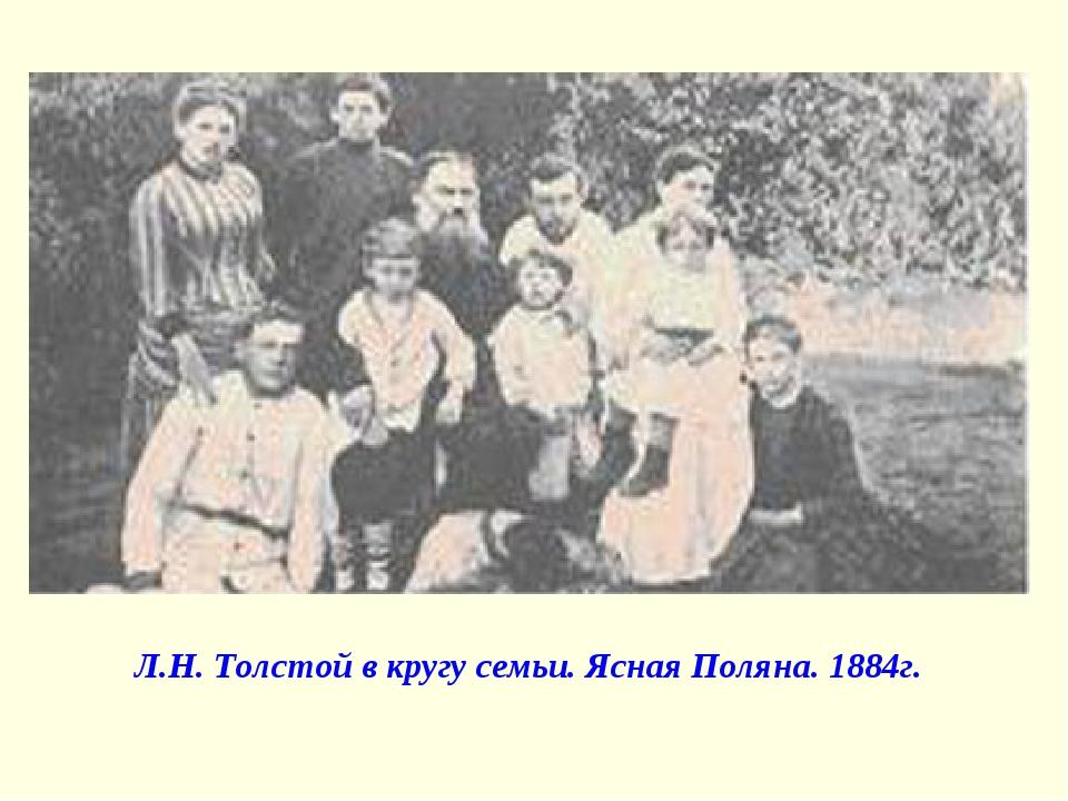 Л.Н. Толстой в кругу семьи. Ясная Поляна. 1884г.