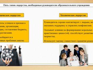 Пять типов лидерства, необходимые руководителю образовательного учреждения Ру