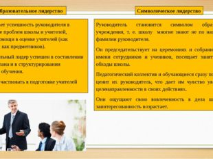 Предполагает успешность руководителя в диагностике проблем школы и учителей,