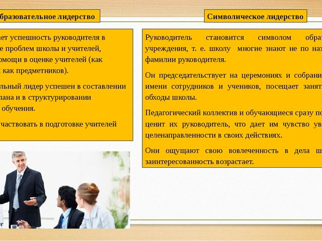Предполагает успешность руководителя в диагностике проблем школы и учителей,...