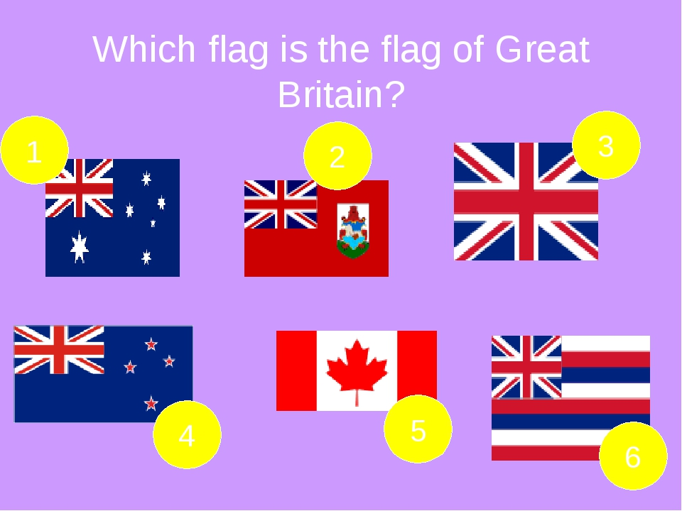 Which flag is the flag of Great Britain?