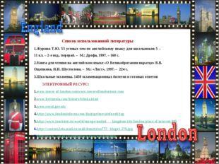 Список использованной литературы Журина Т.Ю. 55 устных тем по английскому я