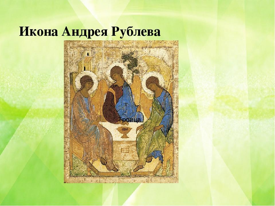 Икона Андрея Рублева Троица