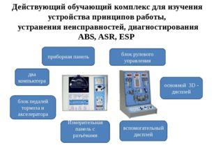 Действующий обучающий комплекс для изучения устройства принципов работы, устр