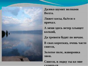 Далеко шумит волнами Волга. Лижет косы, бьётся о причал. А меня здесь ветер х