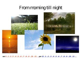 From morning till night am 0 ..1 ..2 ..3 ..4 ..5 ..6 ..7 ..8 ..9 ..10 ..11 ..