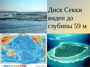 Диск Секки виден до глубины 59 м