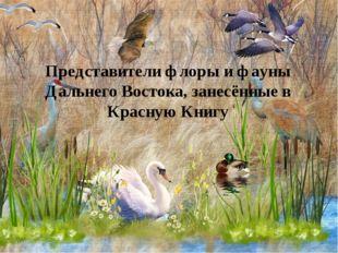 Представители флоры и фауны Дальнего Востока, занесённые в Красную Книгу
