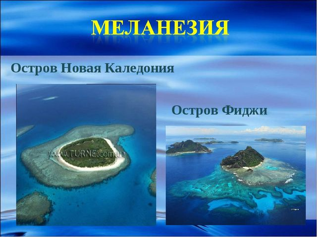 Остров Новая Каледония Остров Фиджи
