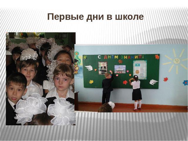 Первые дни в школе