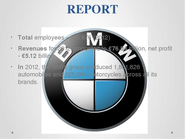 REPORT Total employees - 105,876 (2012) Revenues for 2012 amounted to €76.84...