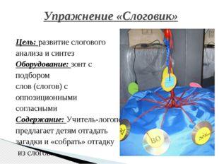 Цель: развитие слогового анализа и синтез Оборудование: зонт с подбором слов