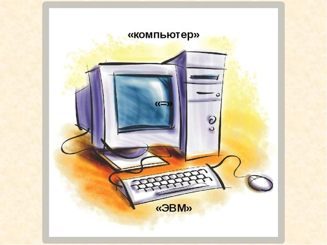 «компьютер» «=» «ЭВМ»