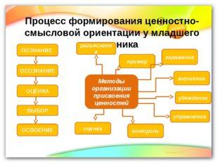 Процесс формирования ценностно- смысловой ориентации у младшего школьника ПОЗ