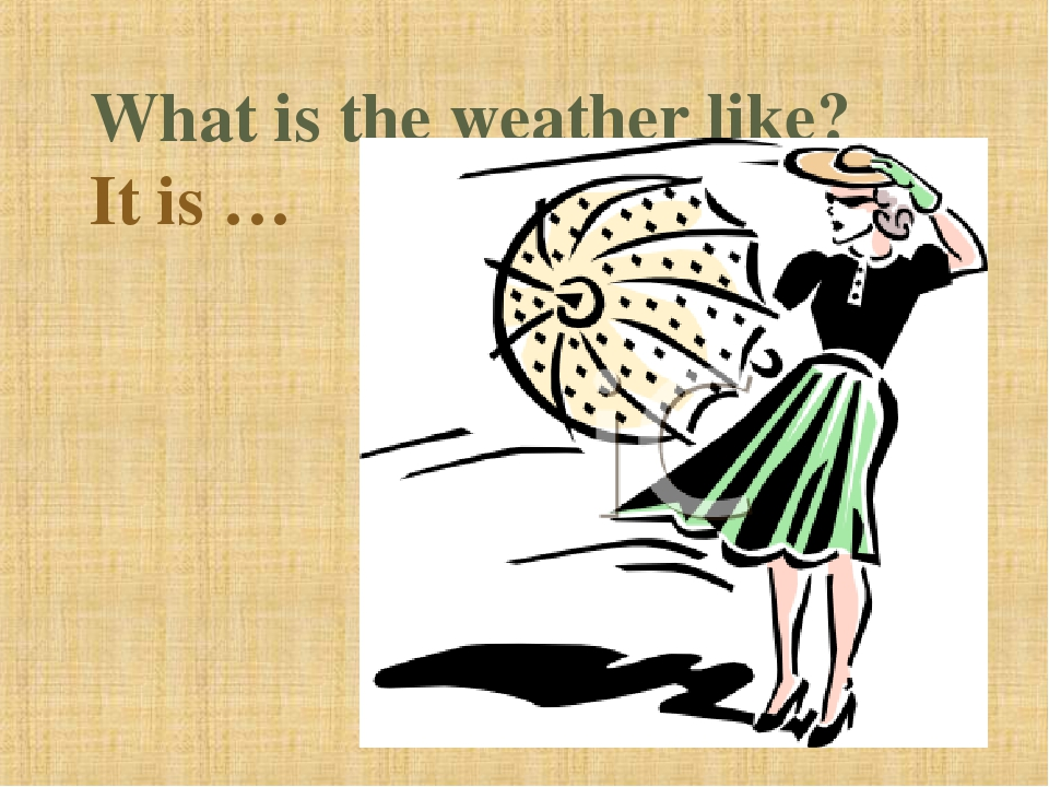 What is the weather like? It is …