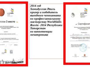 2014 год Хамидуллин Раиль призер и победитель выездного чемпионата по професс