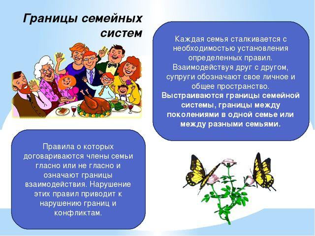 Границы семейных систем Каждая семья сталкивается с необходимостью установлен...
