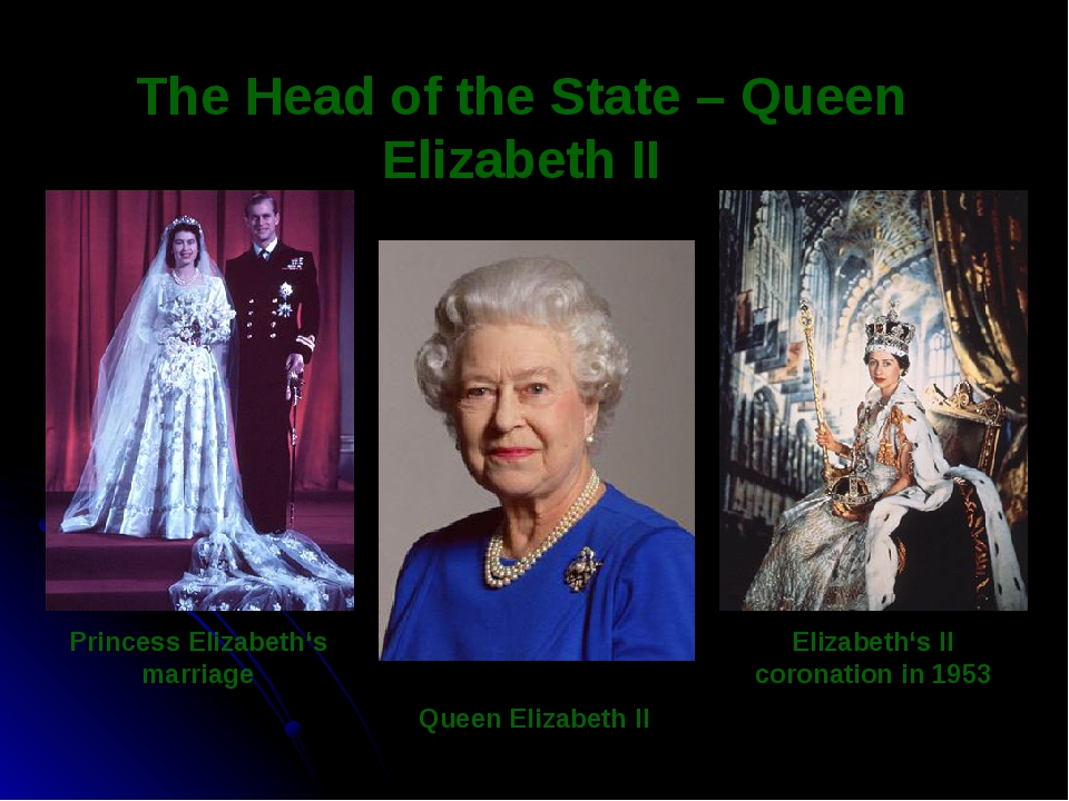 Elizabeth's II coronation in 1953 The Head of the State – Queen Elizabeth II...