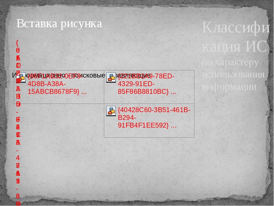 Классификация ИС по характеру использования информации