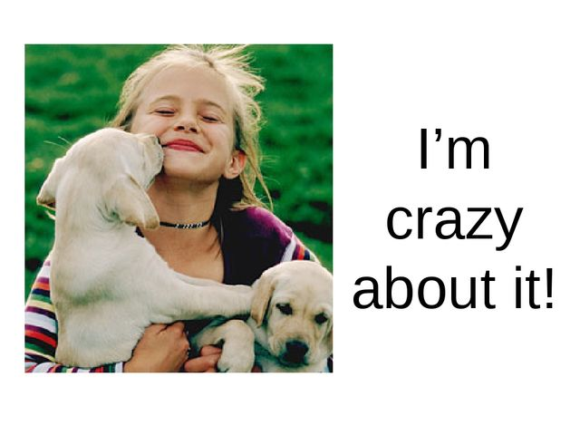 I'm crazy about it!