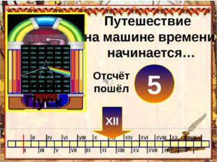 Путешествие на машине времени начинается… Пуск нажать 0 XII 1 2 3 4 5 Отсчёт