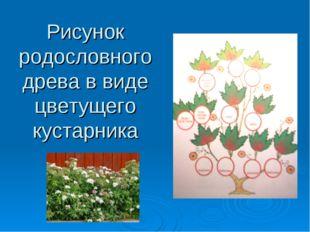 Рисунок родословного древа в виде цветущего кустарника