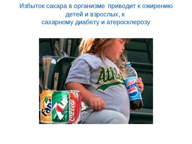 Избыток сахара в организме приводит к ожирению детей и взрослых, к сахарному...