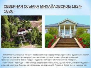 Михайловская ссылка. Пушкин пребывает под надзором гражданских и духовных вл