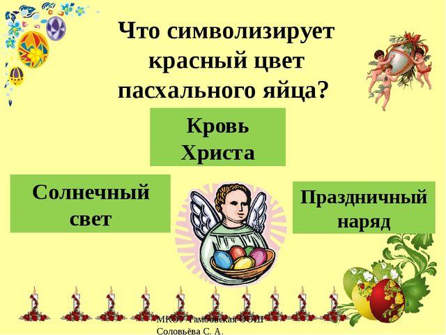 Праздничный наряд Солнечный свет Кровь Христа Что символизирует красный цвет...