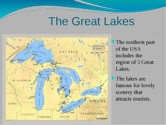 The northern part of the USA includes the region of 5 Great Lakes. The lakes...