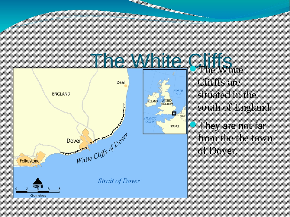 The White Cliffs The White Clifffs are situated in the south of England. The...